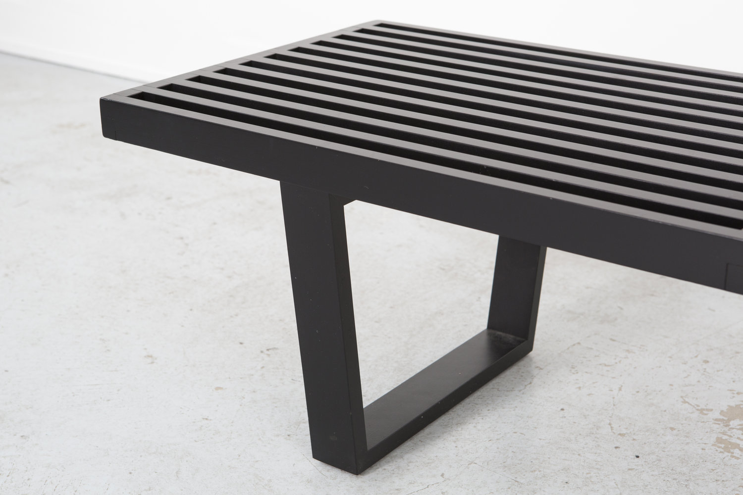 George Nelson's Slat Bench for Herman Miller. Photograph courtesy of the gallery.