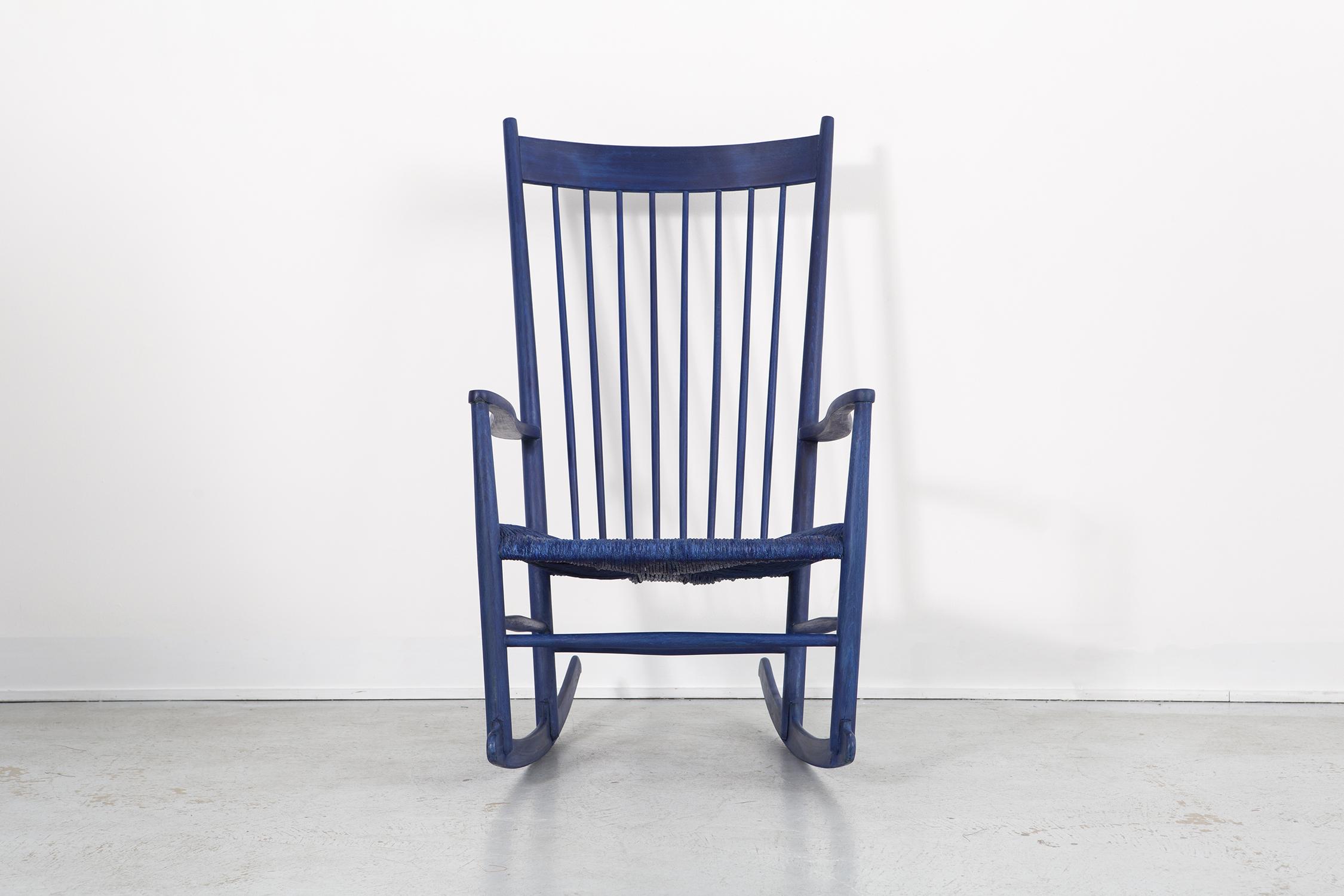 HANS WEGNER ROYAL BLUE ROCKER