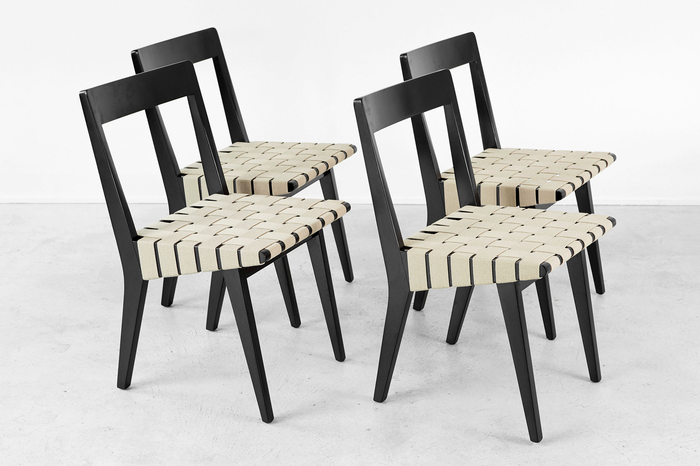 SET OF RISOM FOR KNOLL DINING CHAIRS