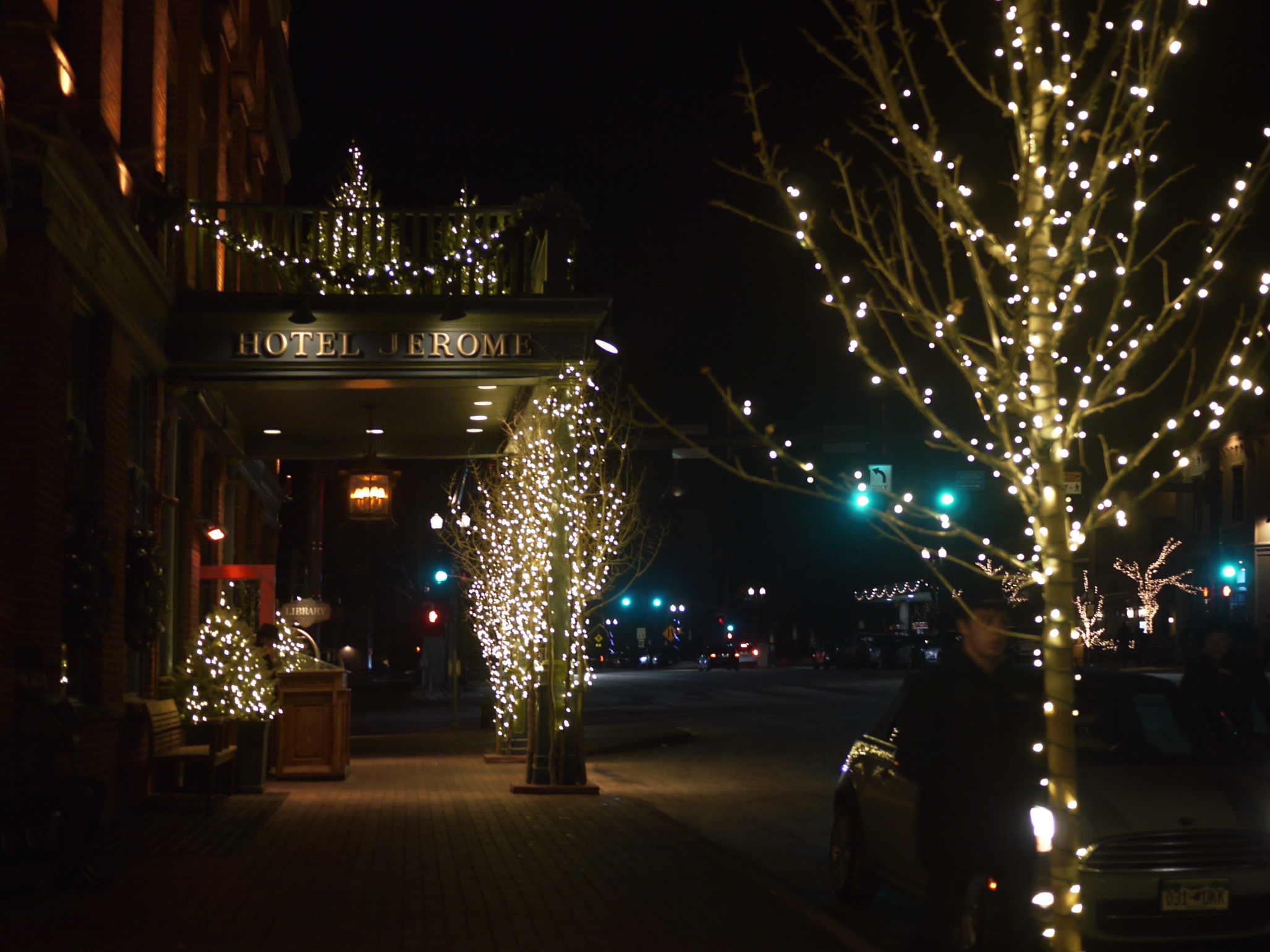 Hotel Jerome Aspen Winter Lights