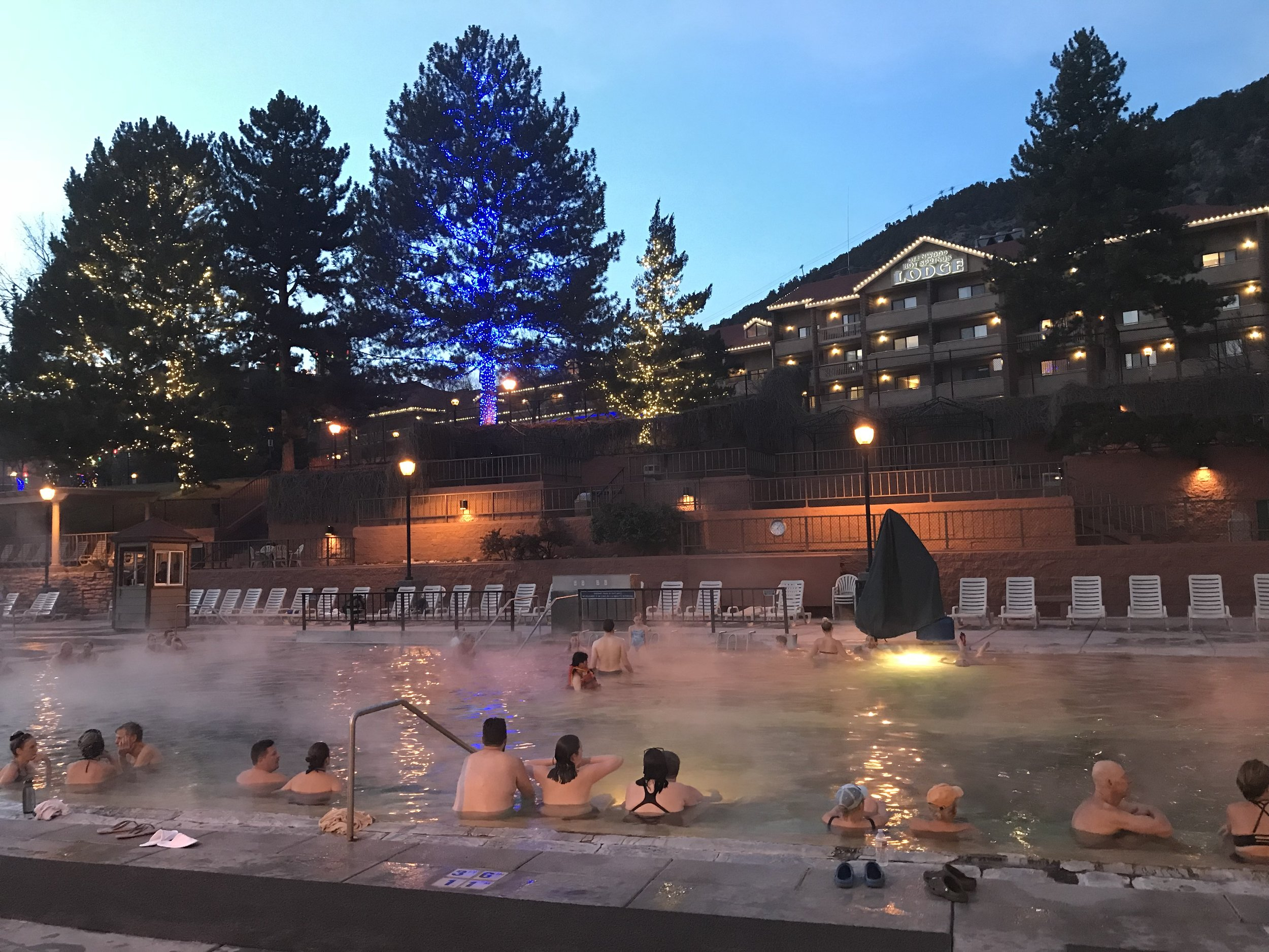 Glenwood Hot Springs Pool Holiday Lights