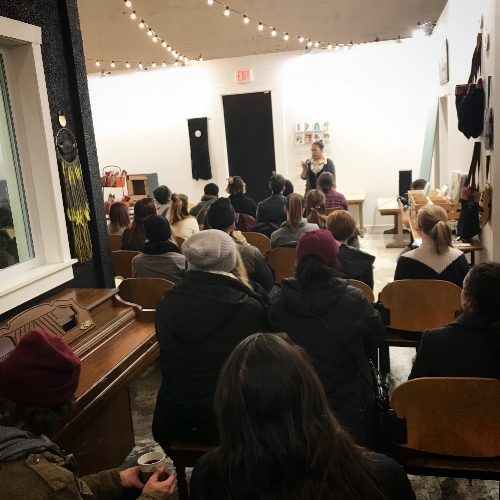 Bridge Street Poetry - Next event is February 20. Email briana@thesparrowsgr.com to perform.