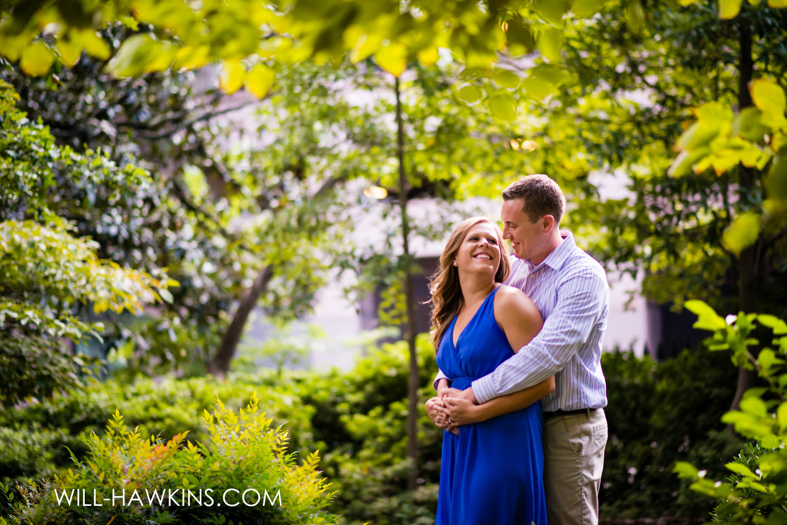 Annie+Matt's Engagement Session in August. Richmond is a pretty city in the summer. Hot, but pretty.