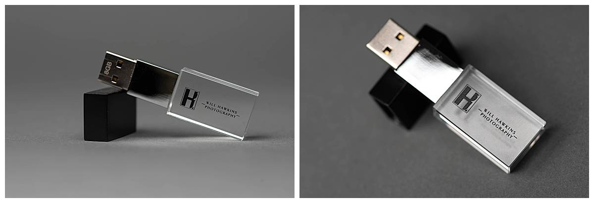 most of our collections feature a thumbdrive that will hold all of your digital files.
