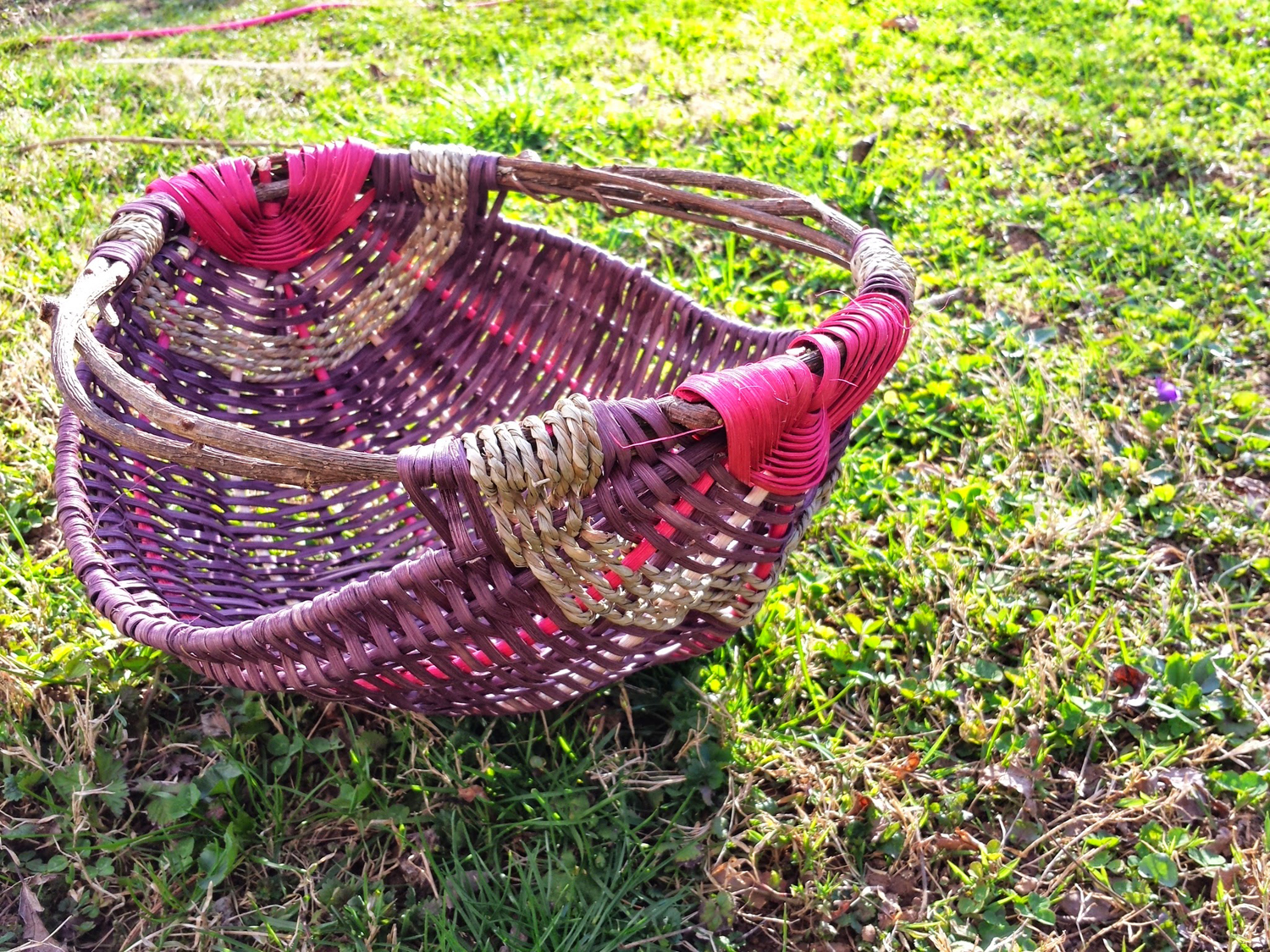 Potato basket handwoven by Kristen Necessary, 2014.