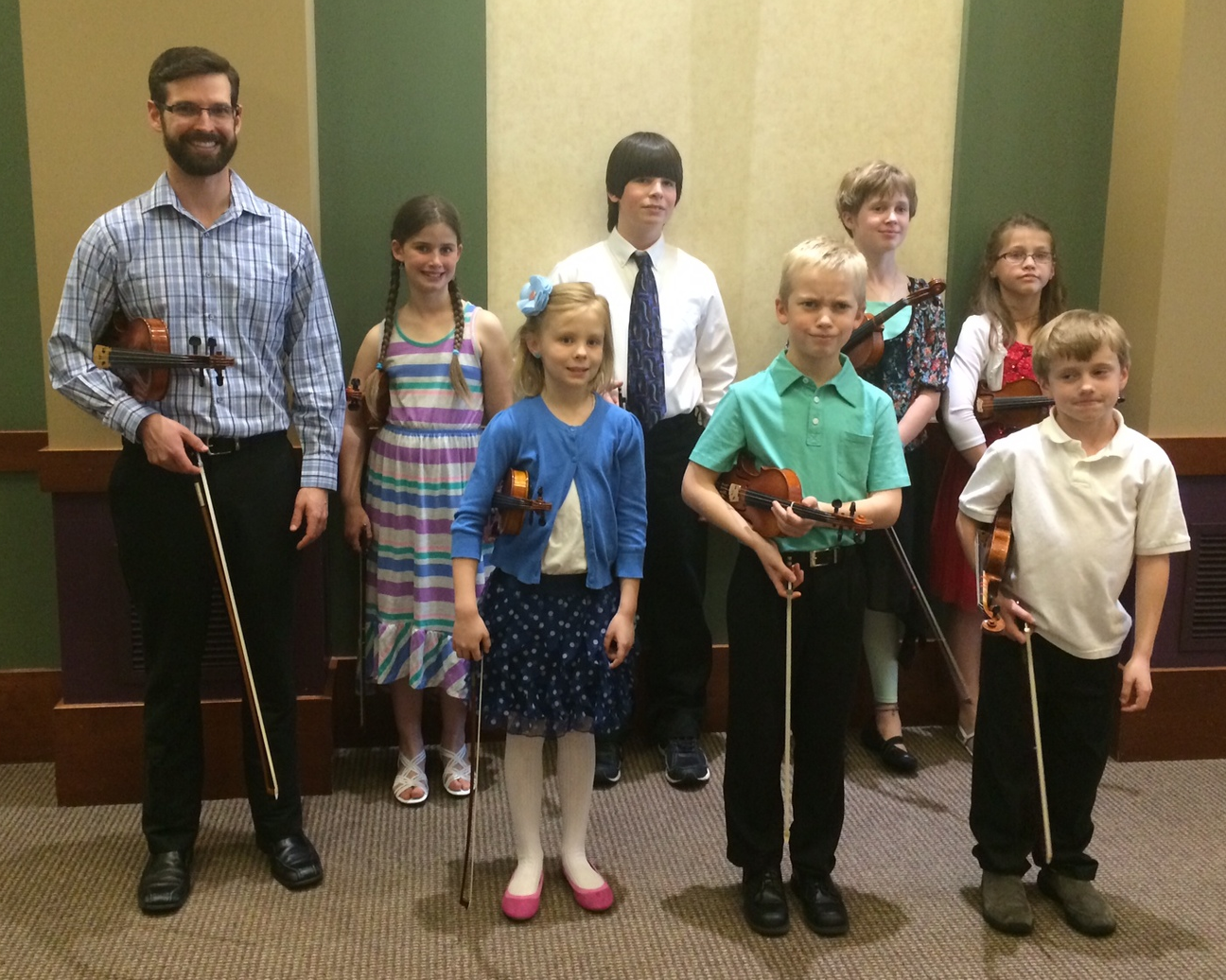 Spring 2014 recital at Mayo Red Wing with former teacher, Luke Hubbard.