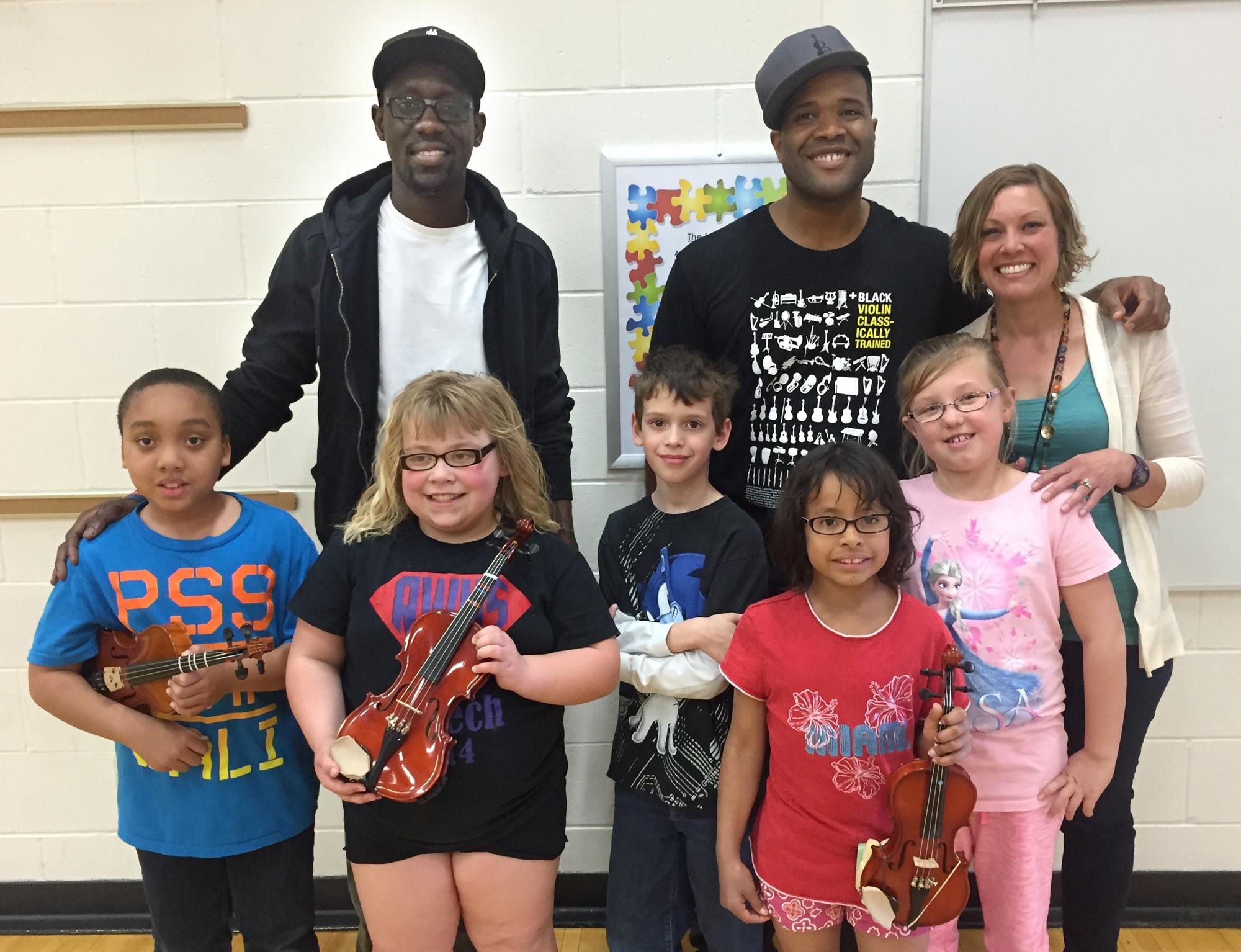 Black Violin performed at Burnside School Spring 2015