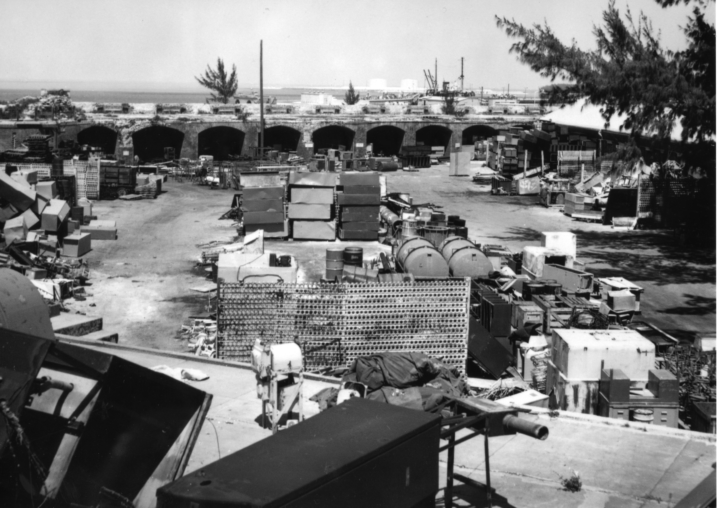 1954 - 1975 Fort utilized as a Storage and Salvage Yard for the Navy