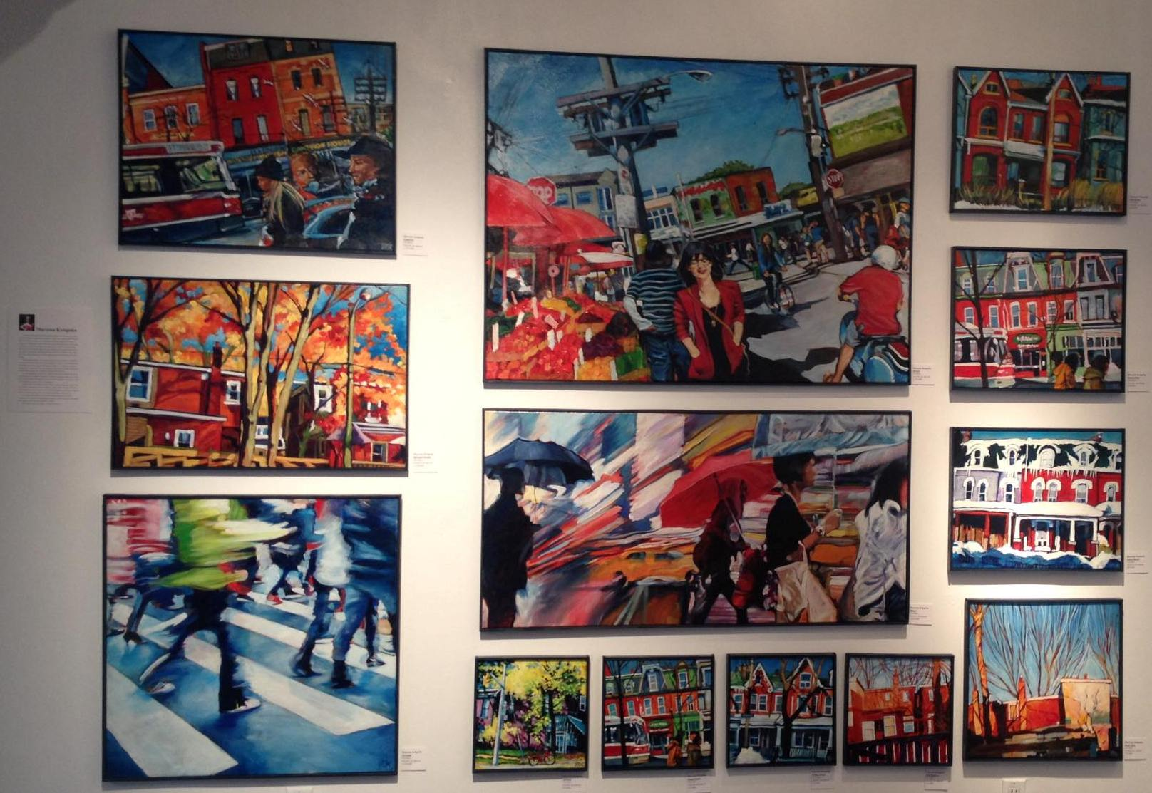 Marzena Kotapska`s vibrant acrylics of Toronto capture its energy and people