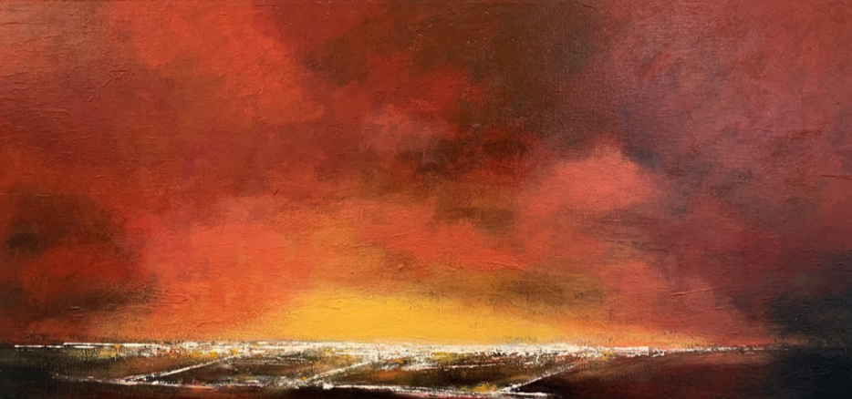Figure 3 Sunset Landing by Rita Vindedzis; $500