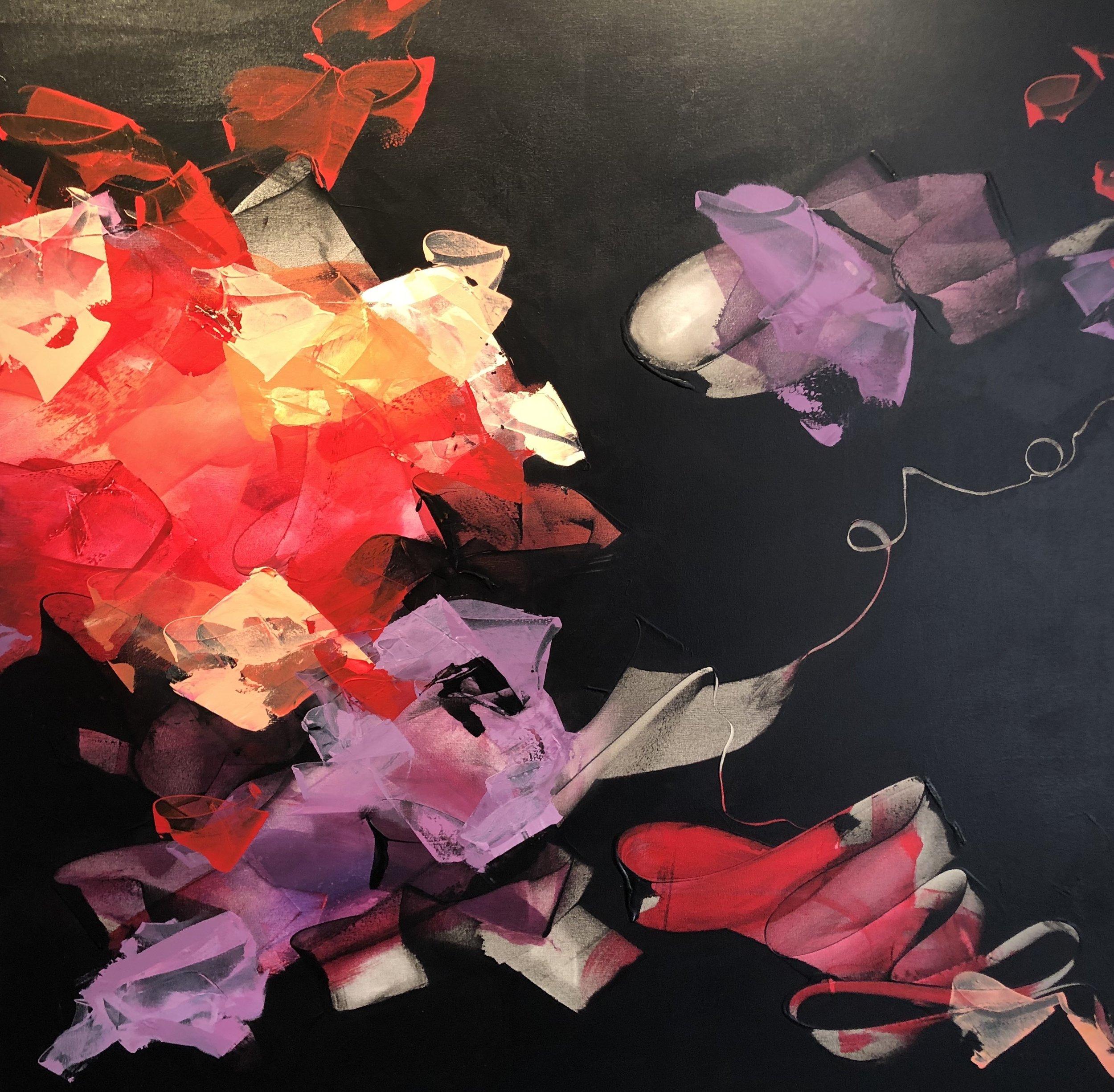 """Where the Magic Happens"" acrylic on canvas (48""x 48"") $2,000"