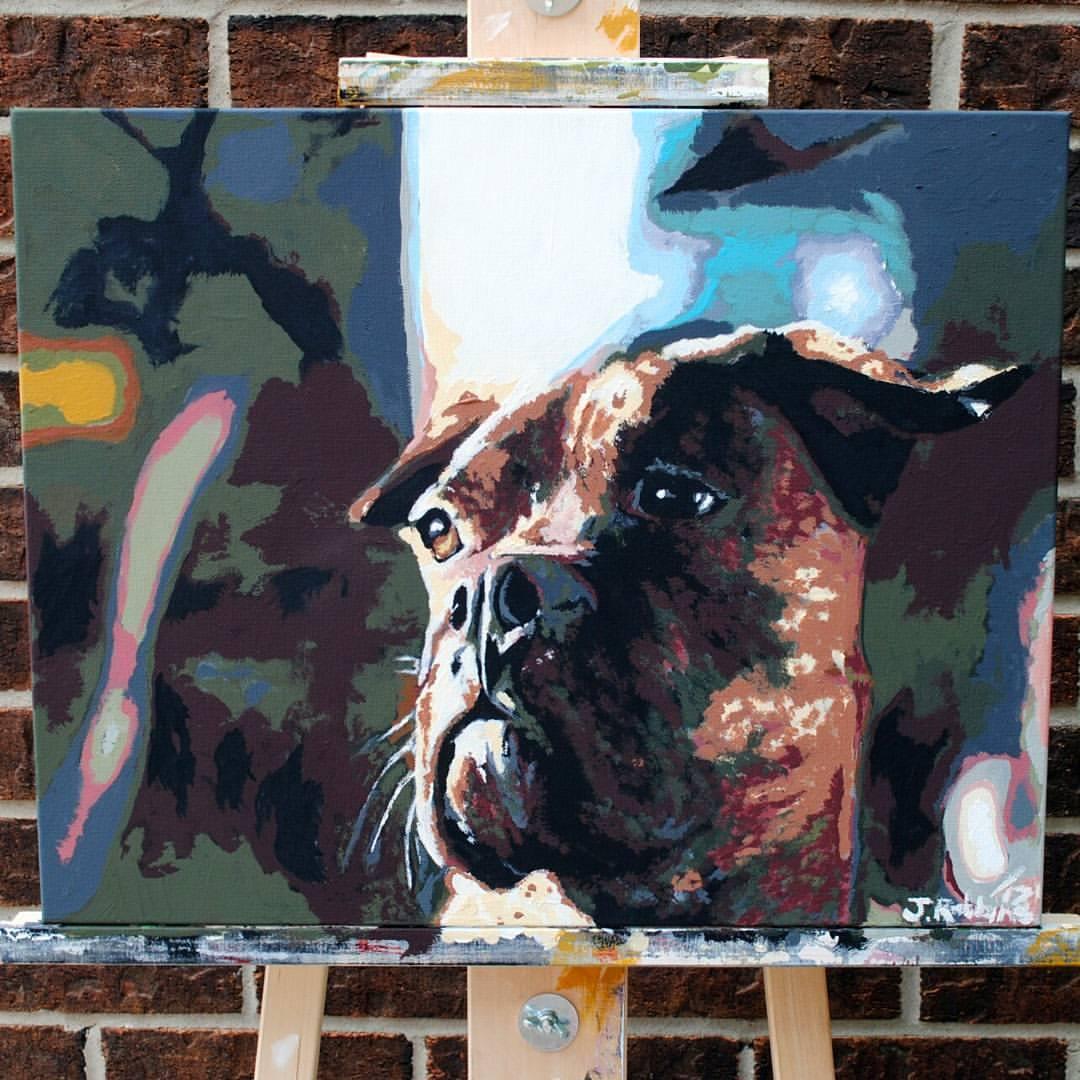 """Jaxx"" acrylic on canvas, courtesy off Jessica Robbins."