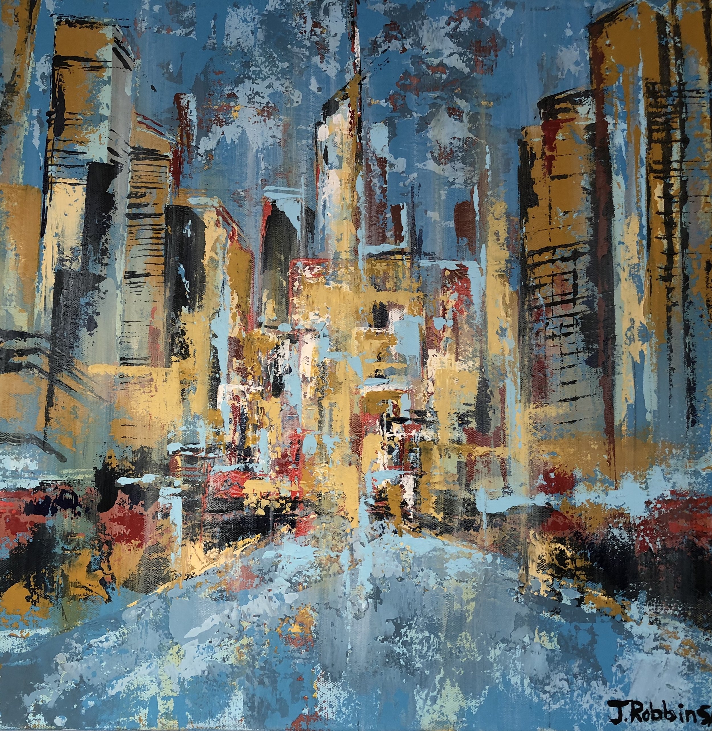 """Magnificent Mile"" acrylic on canvas (20""x 20"") $300"