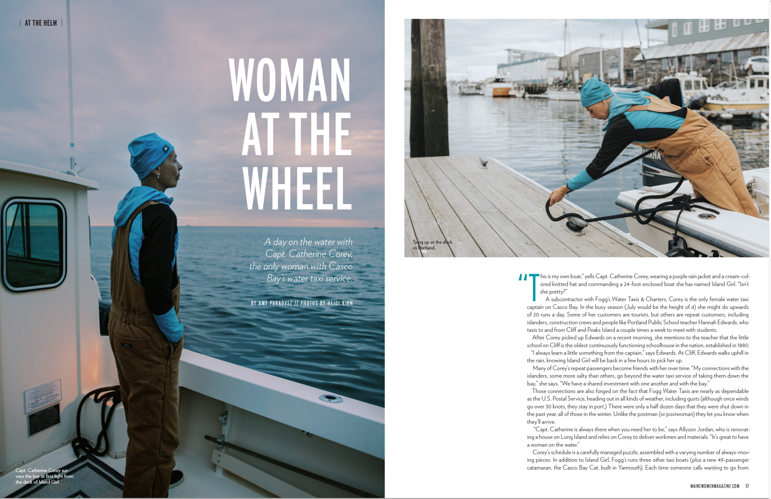 August Issue of Maine Women Magazine, Editorial Photography