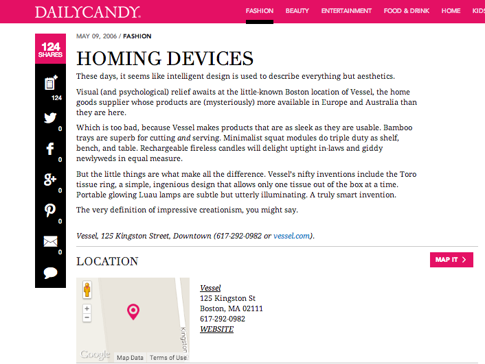 DailyCandy: Homing Devices
