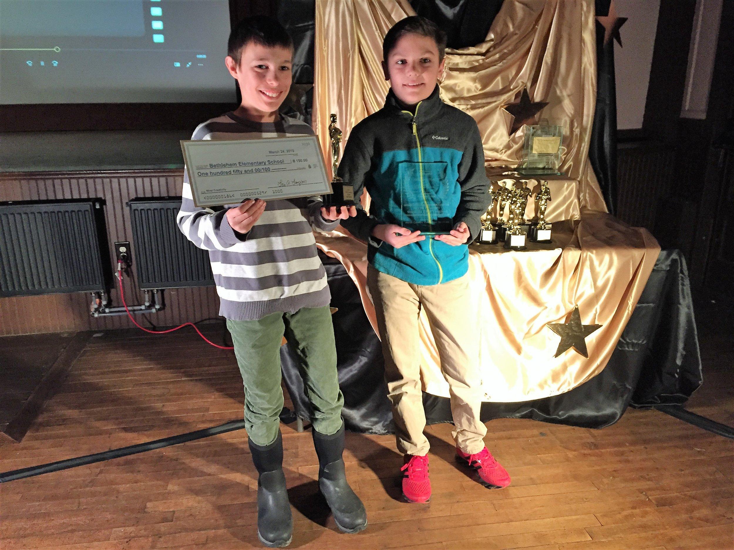 "Winner: Most Creativity   "" Bethlehem's History "" by Bethlehem Elementary"