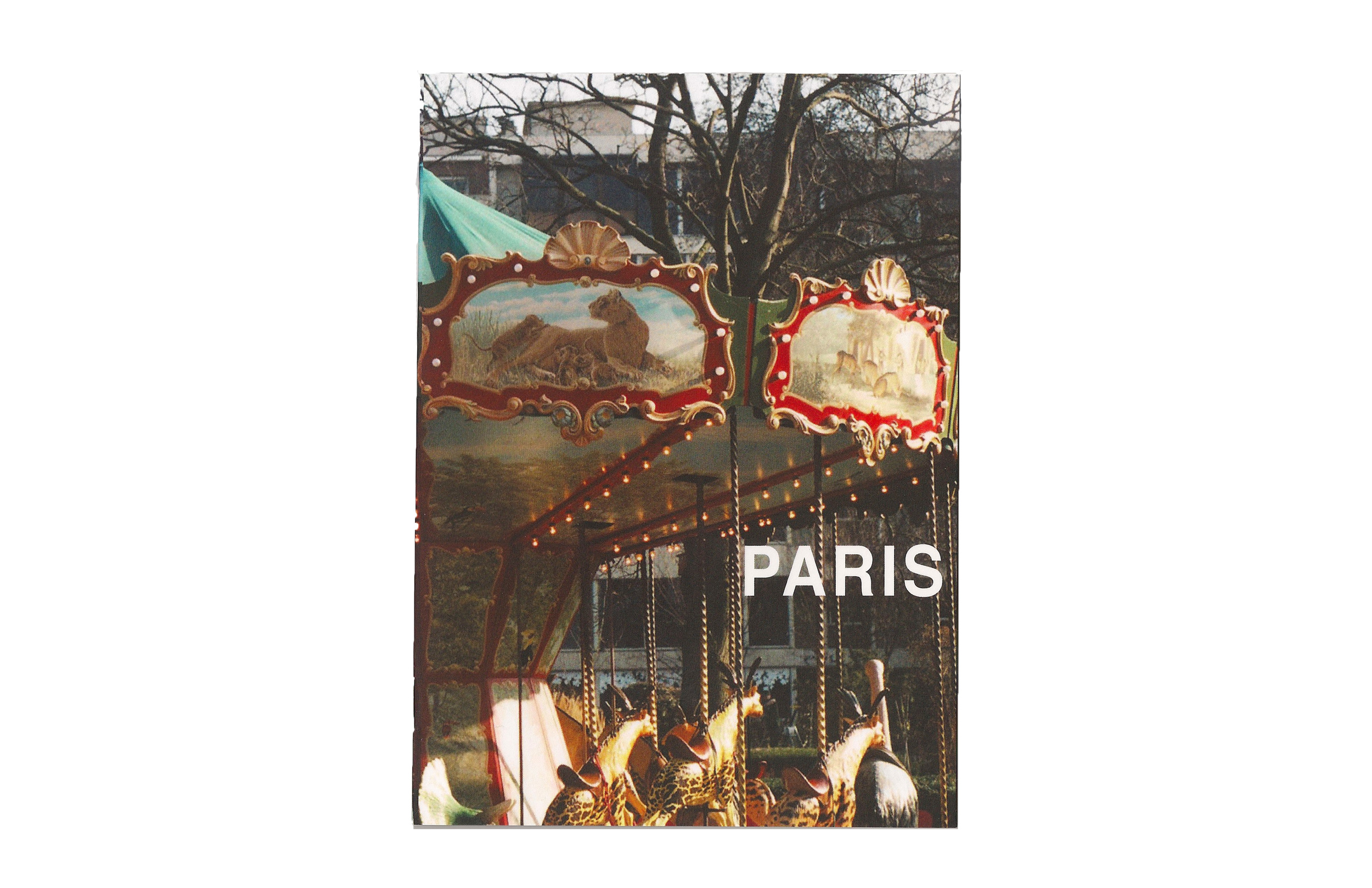 "24 Hours in Paris   5 "" x 7 "" booklet   24 Pages  Staple bound  Printed in a numbered edition of 50"