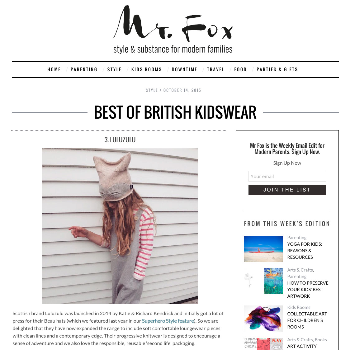 Mr Fox - Best of British kidswear