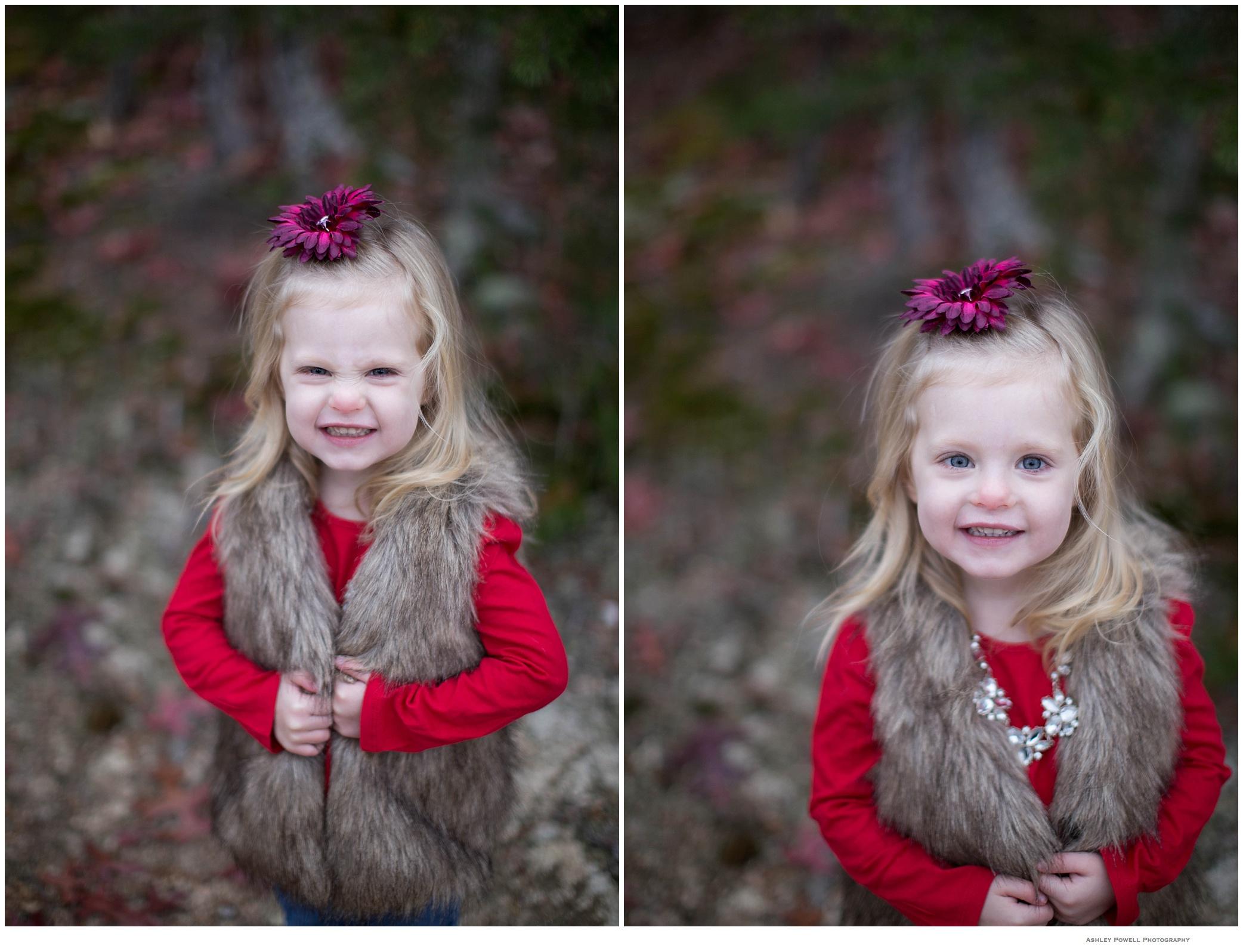 Modeling her (faux) fur vest!! Such a cutiepie!!