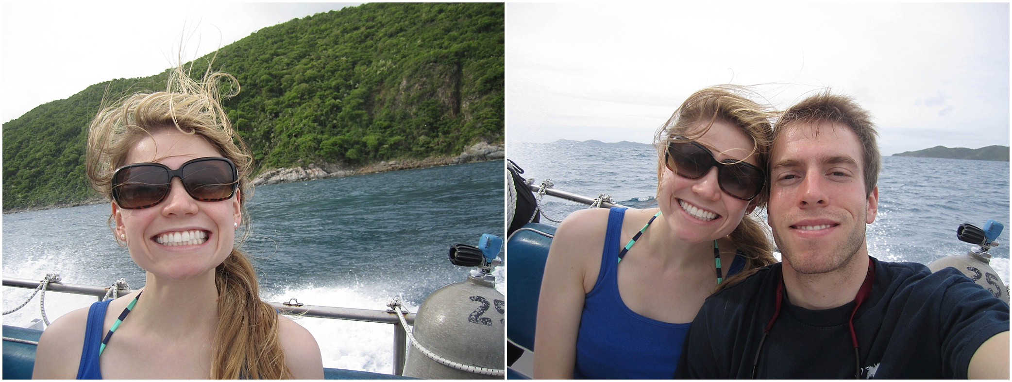 On the excursion boat headed to the BVIs! Do I look nervous to be on a small boat in the ocean?! I was :)