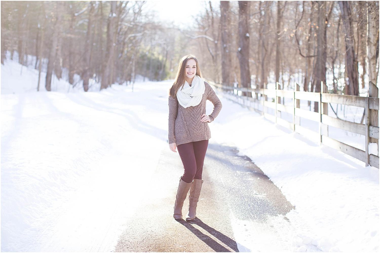 Wintery Roanoke Senior Session   Ashley Powell Photography   Roanoke, Virginia