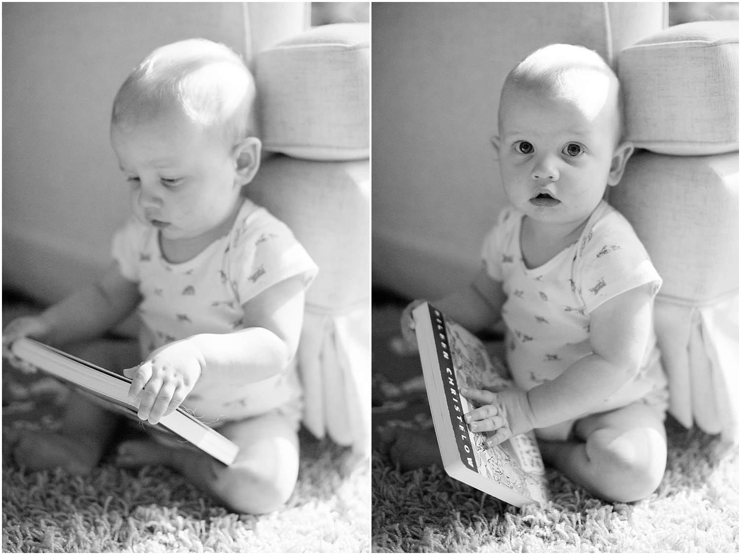 This little boy loves his books!