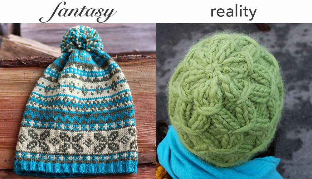 Left: Folklore by Faye Kennington,  Right: 2 Hour Smoked Toque by Faye Kennington, photos copyright Ukeeknits, used with permission.
