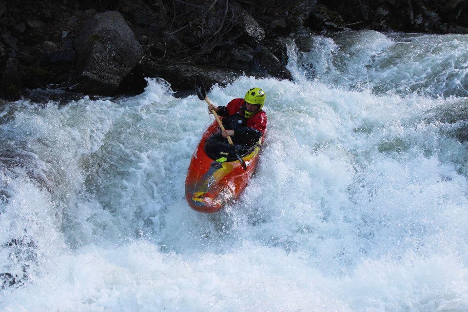 Griz attackman, Sam Freihofer going down Kootenai Creek