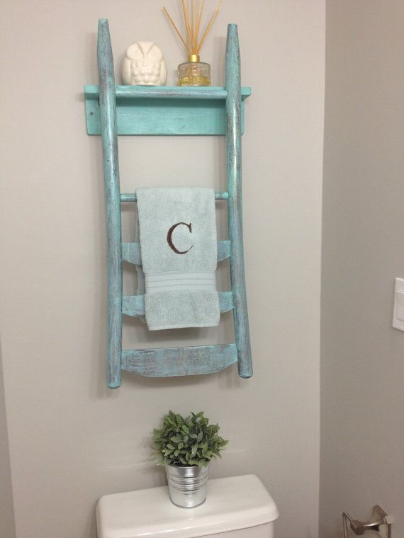 Chair back towel rack from Beach City Creations