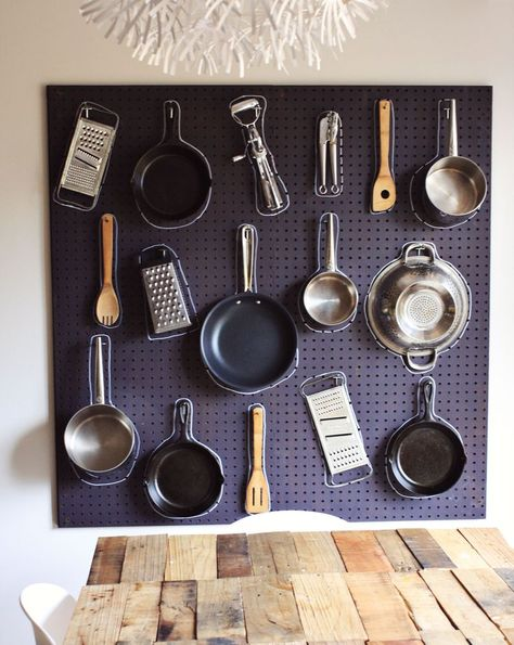 How To Hang Pots Pans And Other Kitchen Tools On The Wall