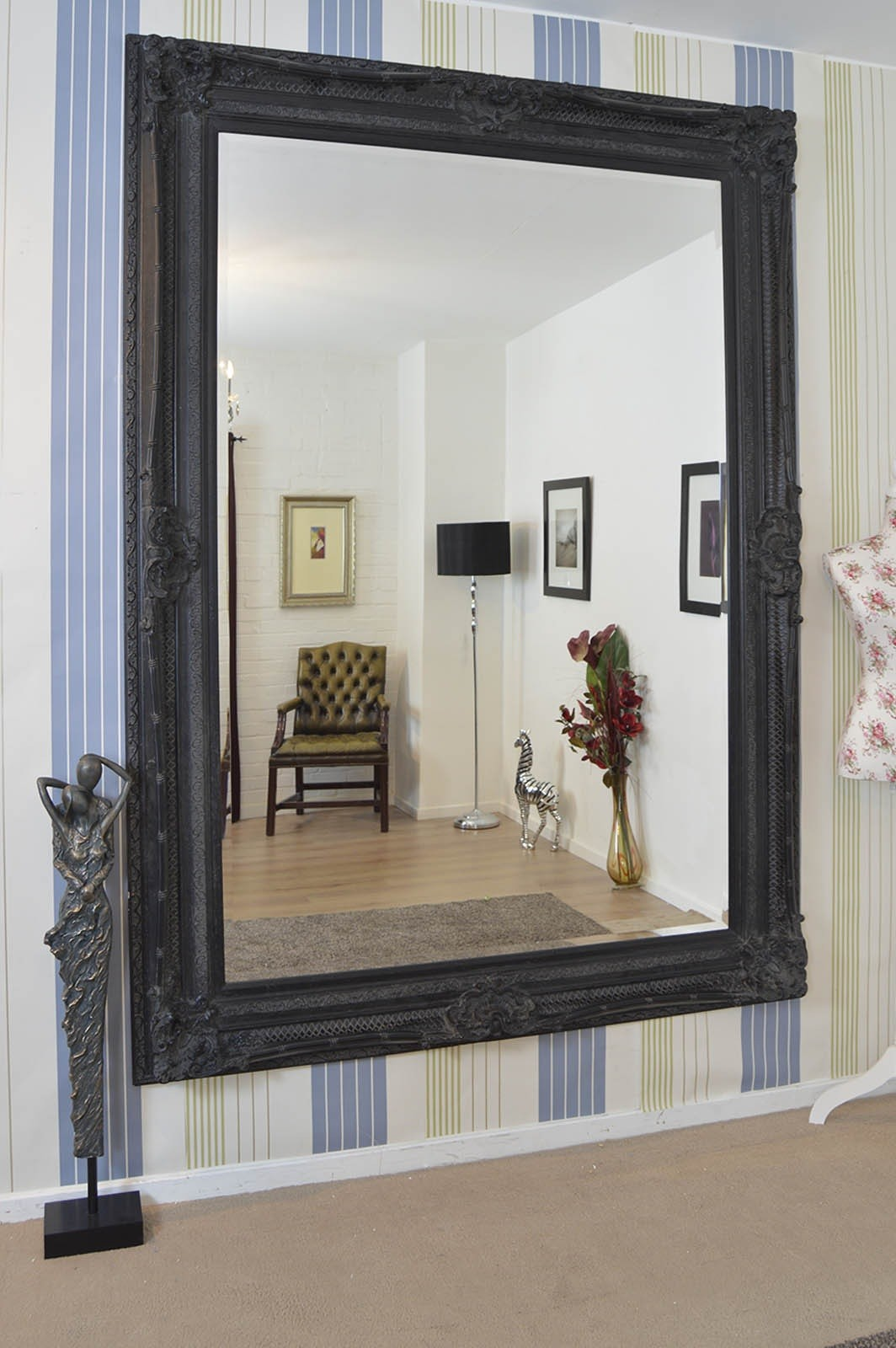 This behemoth mirror brought to you by Mirror Outlet. Use 2 Sexy Metal Hooks!
