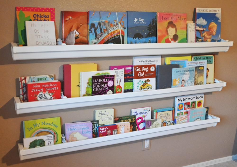 Rain Gutters To Make Bookshelves