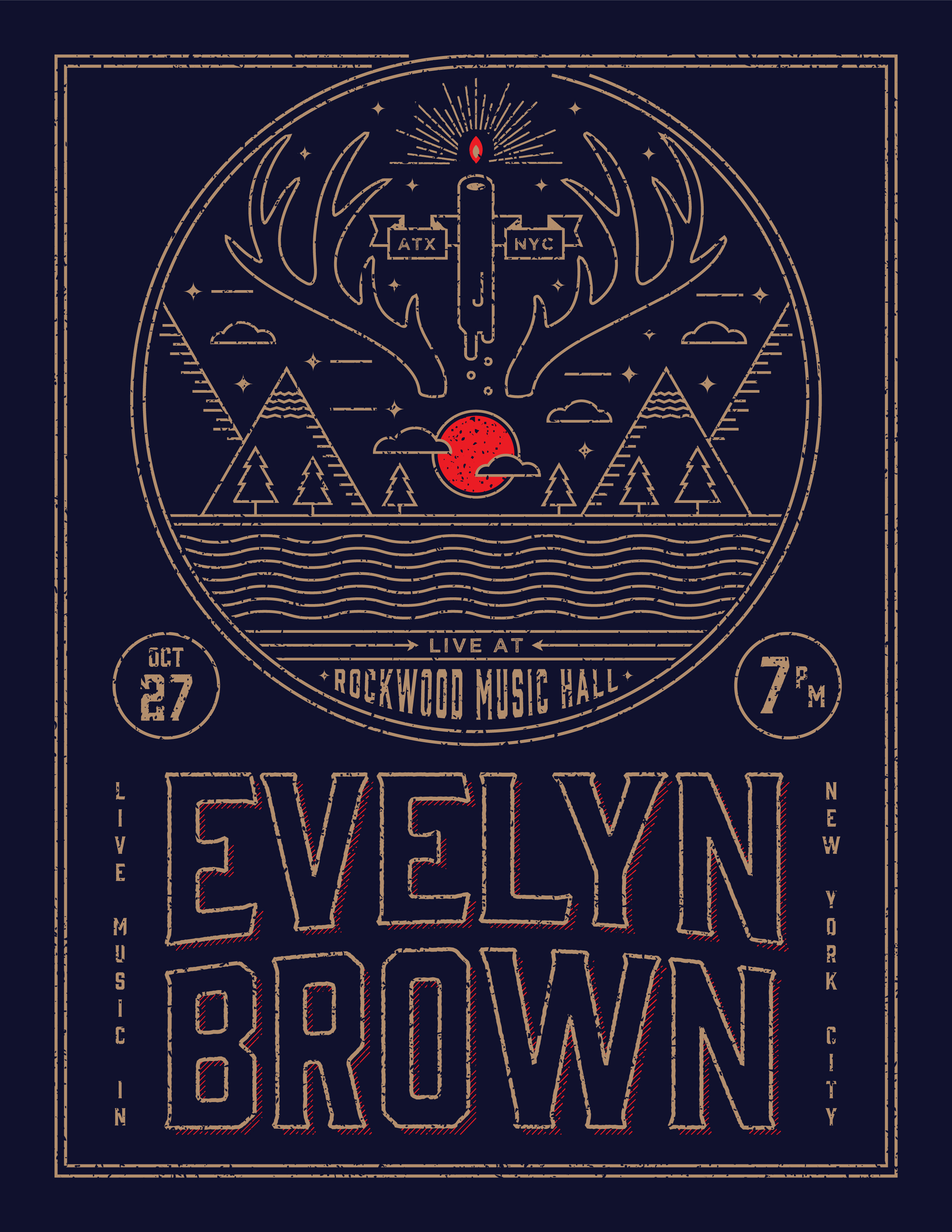 Evelyn Brown Gig Poster