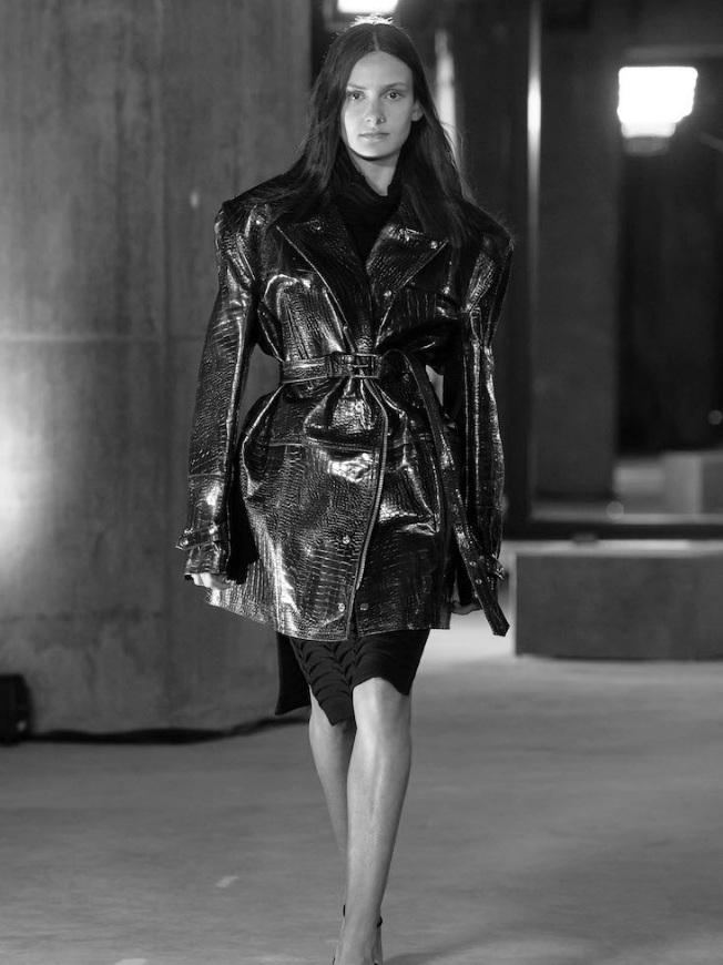 Paris Newman walks for Strateas Carlucci at MFW -