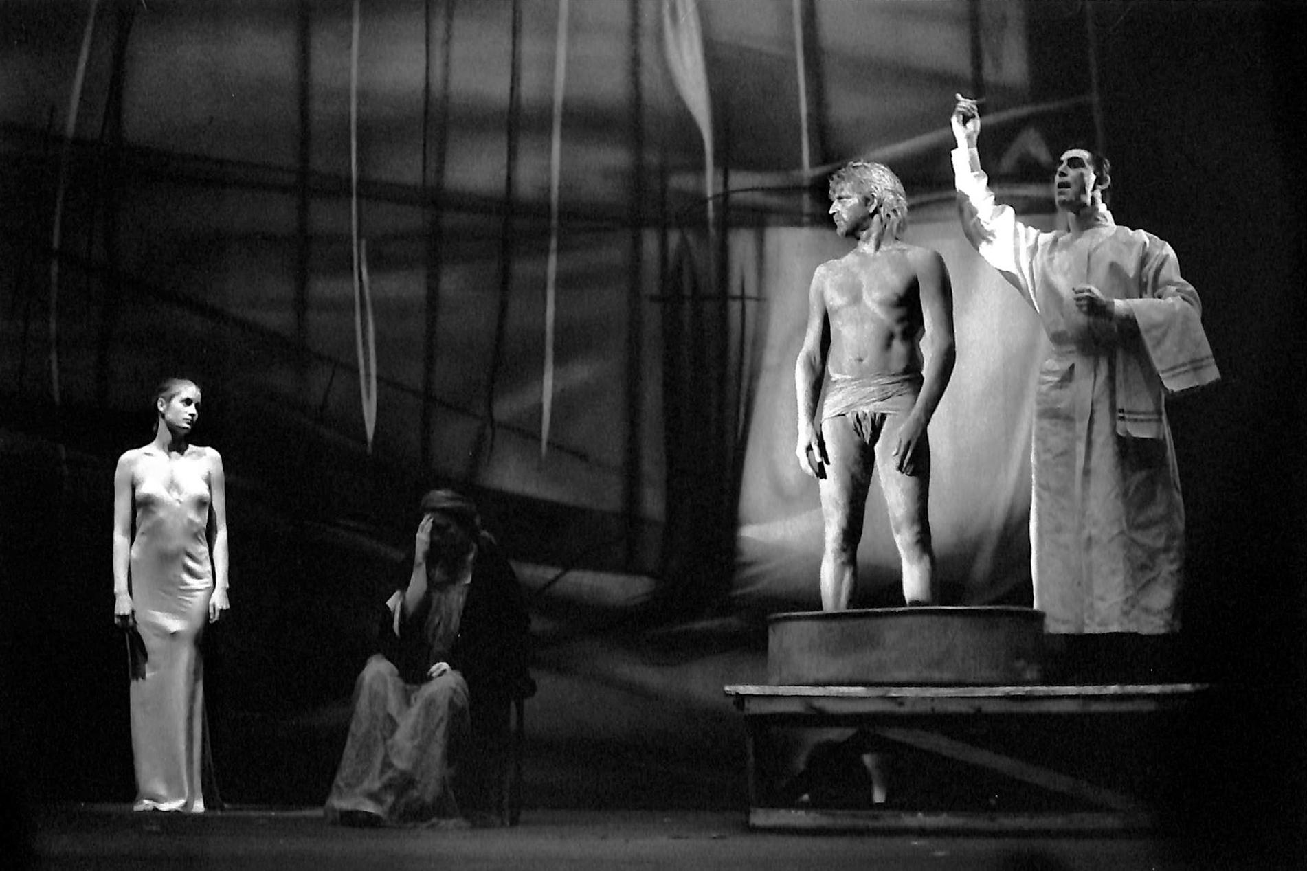 Act IV, Scene 4 - Geno Lechner (Whore),  Ensemble, Howie Seago (Enkidu), Simon Newby-Koschwitz (Barber)