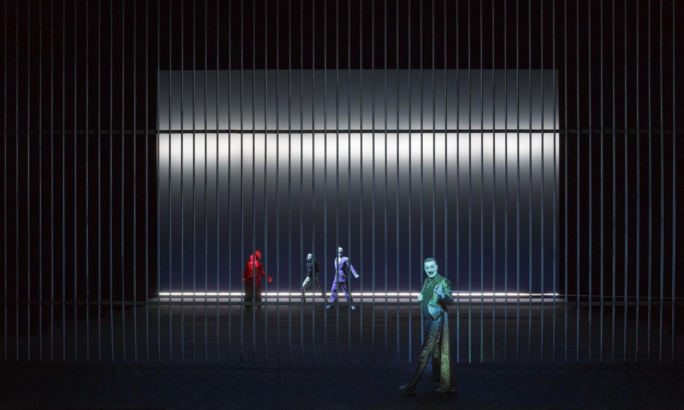 Scene 3C2 - The Torture of Loke: Eivin Nilsen Salthe (Loke), Joachim Rafaelsen (Ty), Ola G. Furuseth (Frøy), Paul-Ottar Haga (Njord)