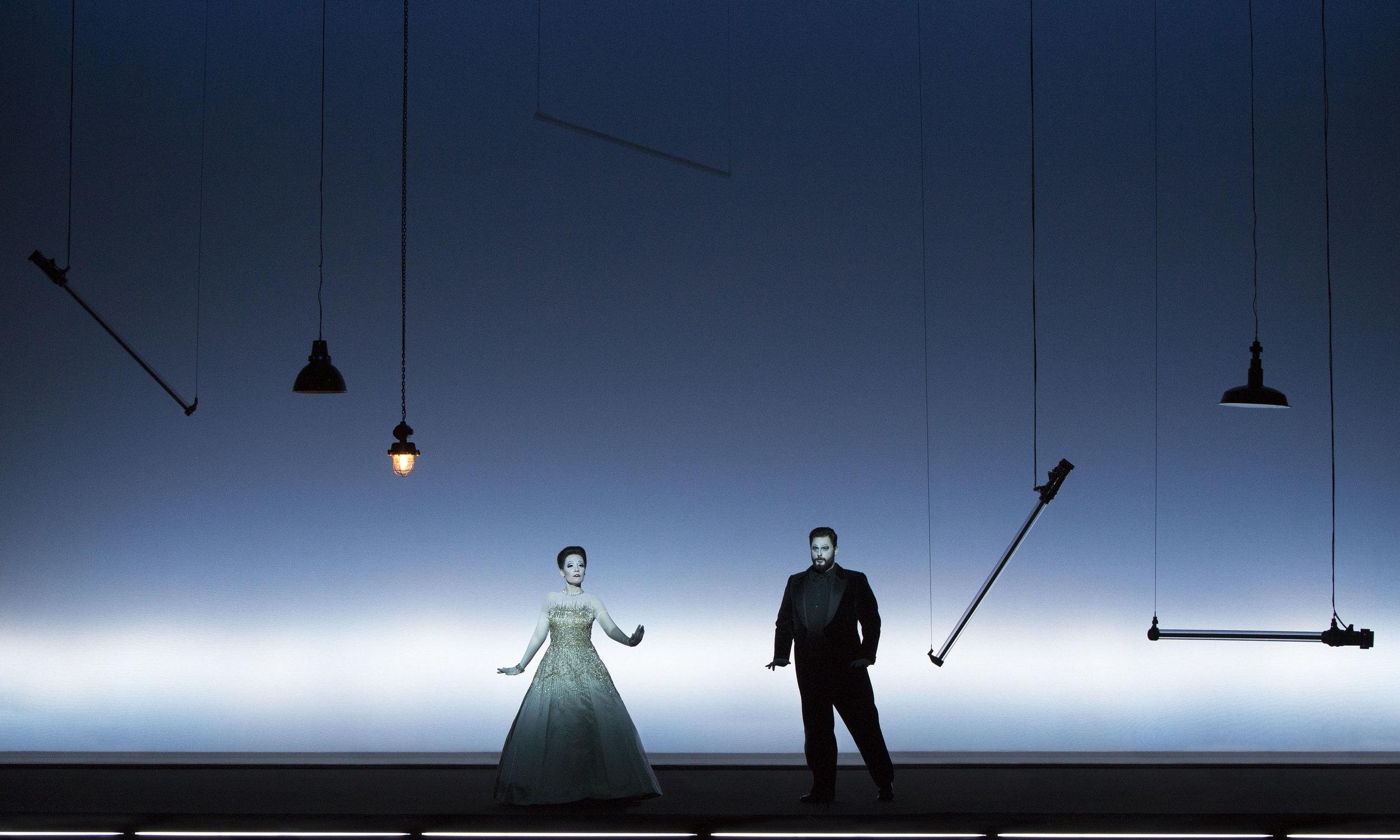 Act II, Scene 2: Rebecca Nelsen (Violetta), Airam Hernandez (Alfredo). Perm, 2016