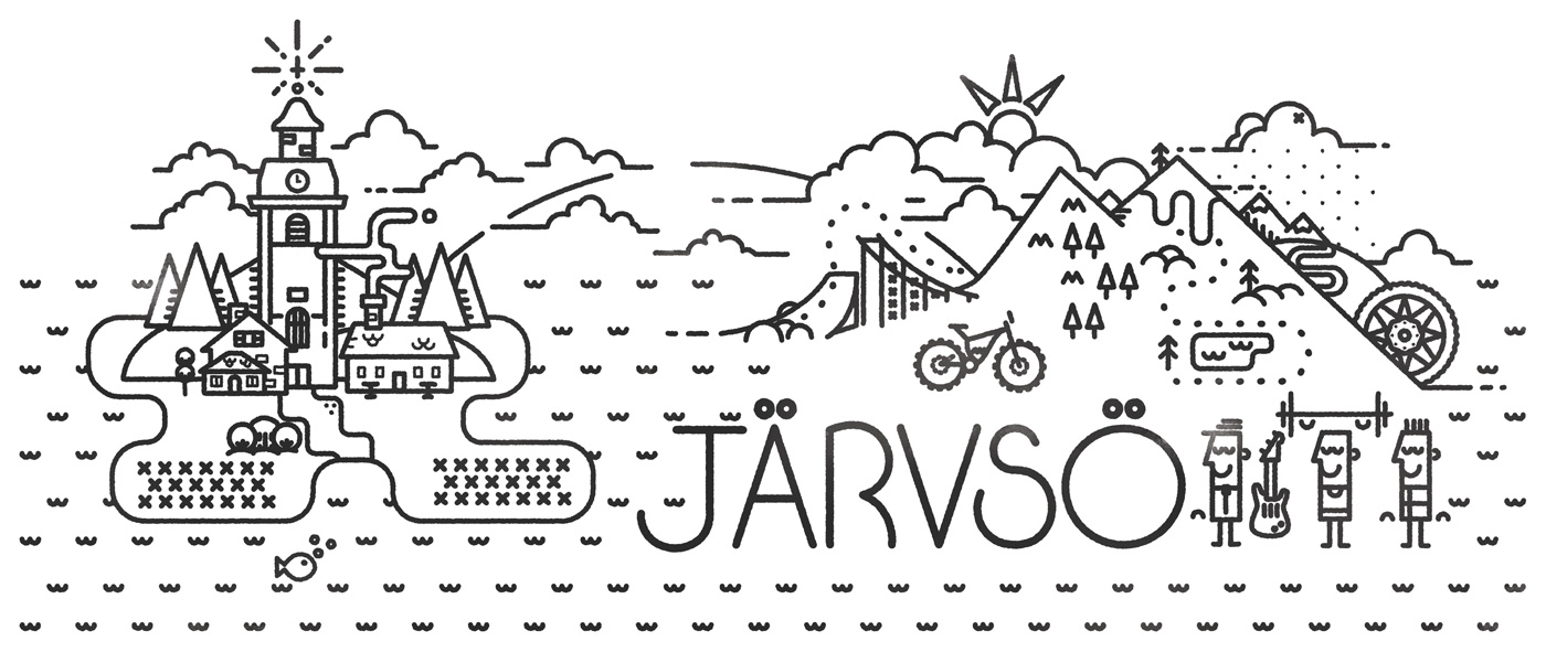 Jarvso Sweden simple tattoo design