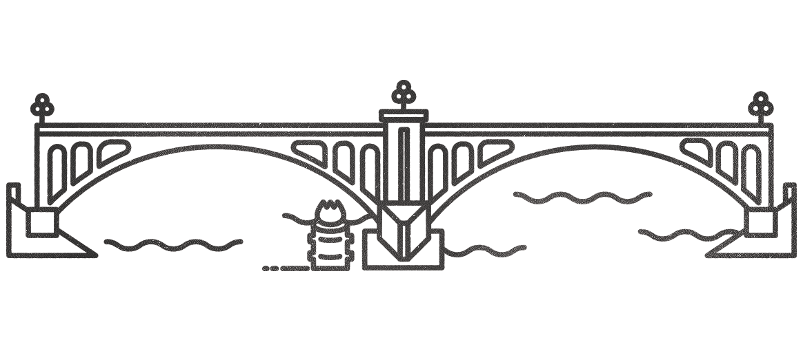 East LA bridge minimal illustration