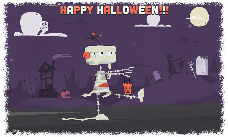 Halloween Promotion illustration 2013
