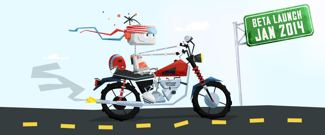 Digit american chopper motorcycle illustration