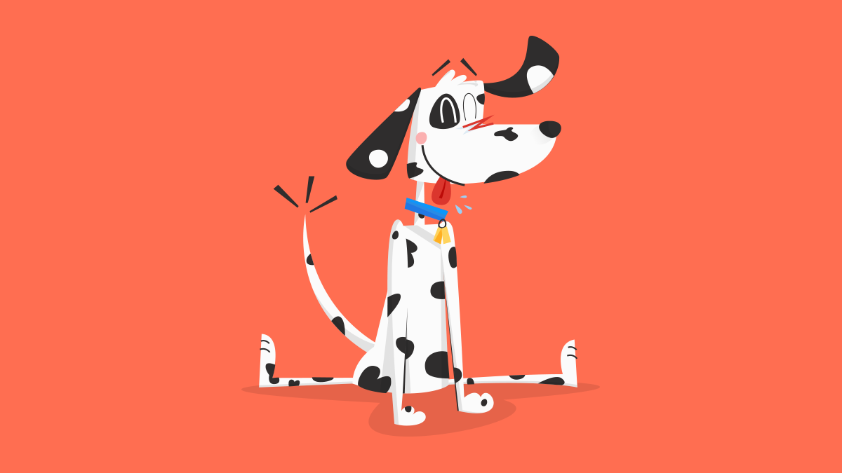 Fire dalmatian dog cartoon