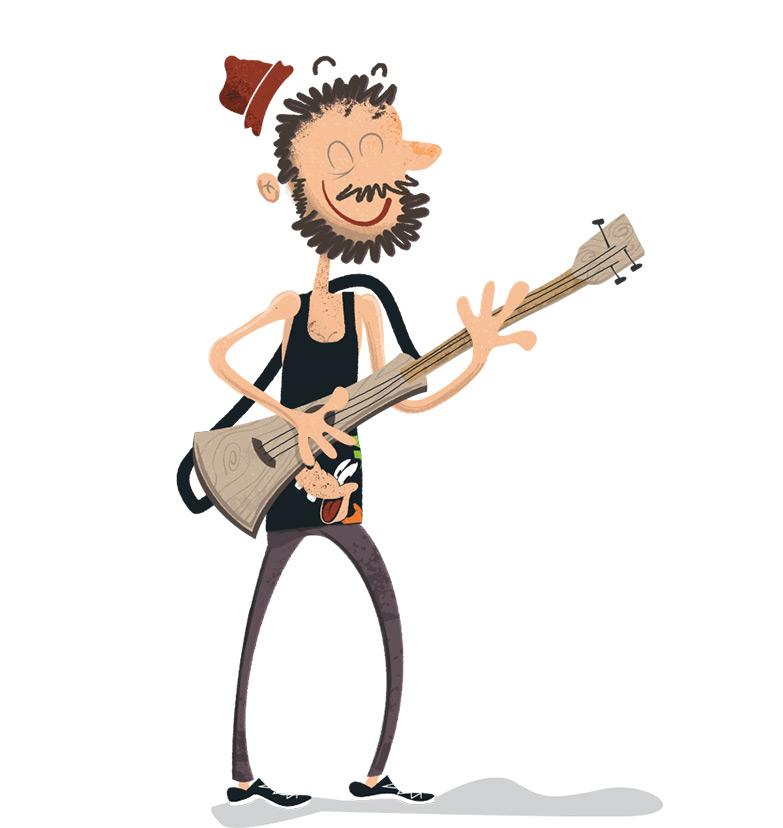 Jeff Guerra Musician Illustration