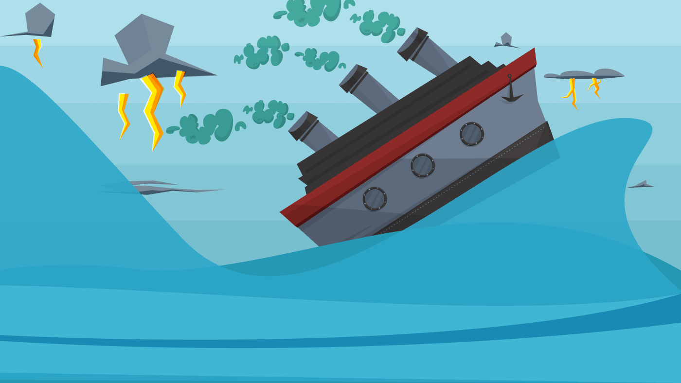 Dirty oil rigger illustration
