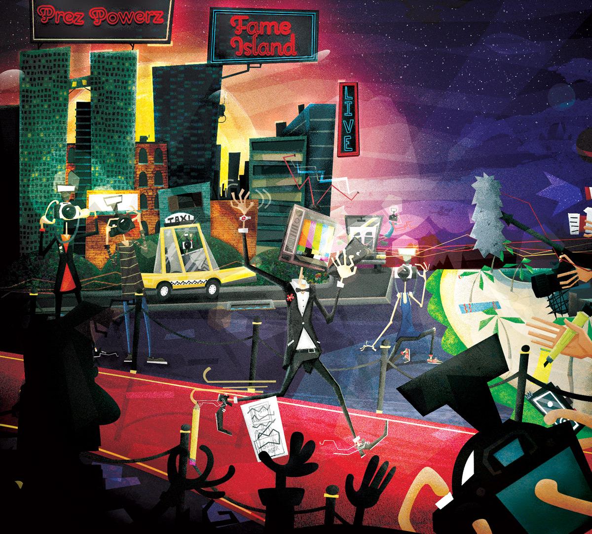 Album art illustration of paparazzi