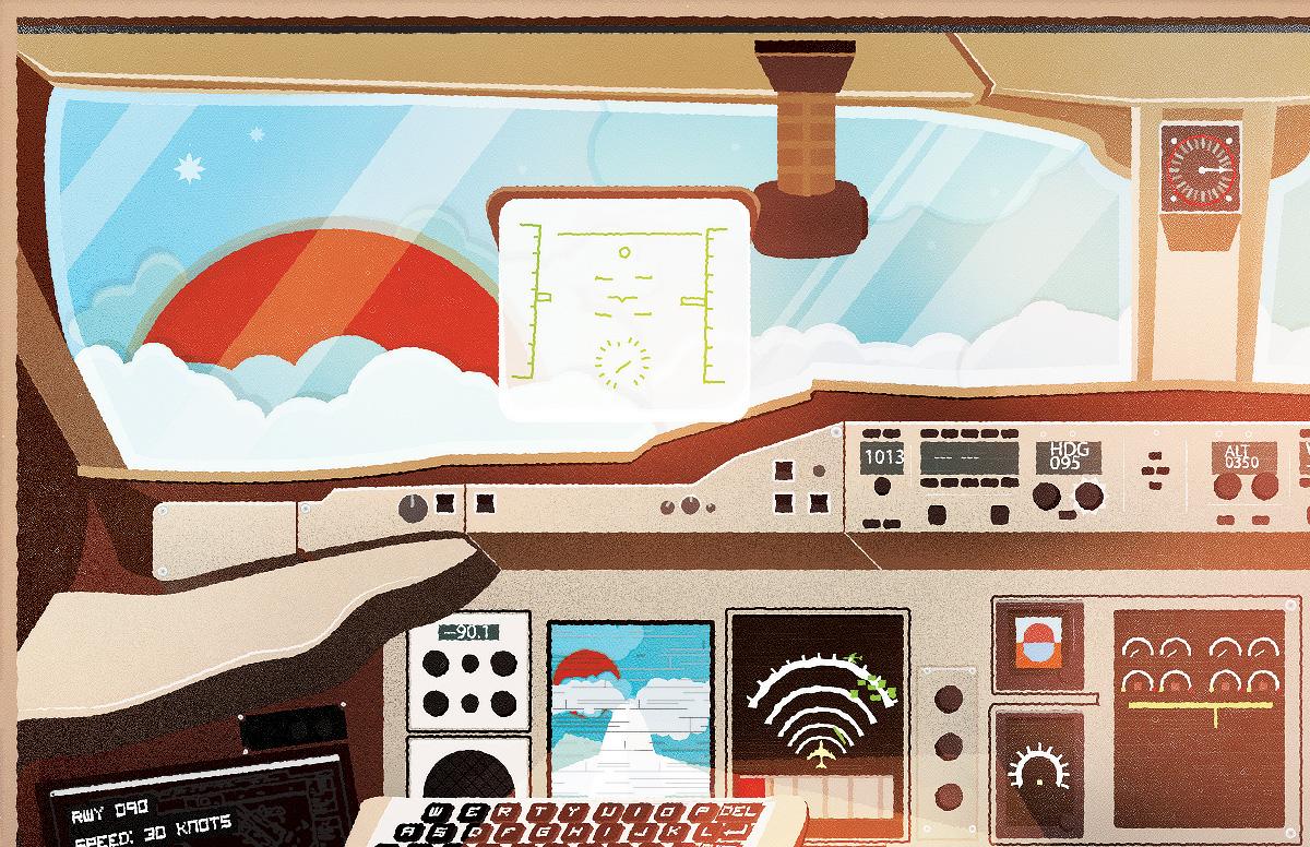 Liquid Shot Co Airbus A380 Plane Illustration