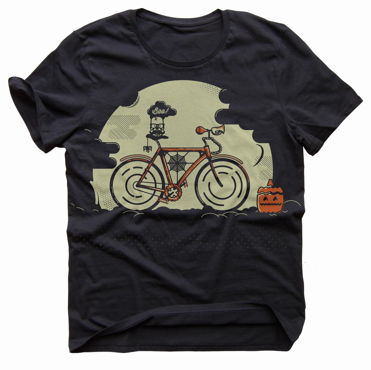 Fixed Gear Hipster T-Shirt Design