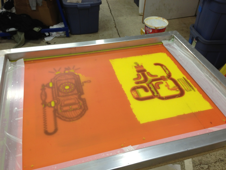 Screen printing process 1