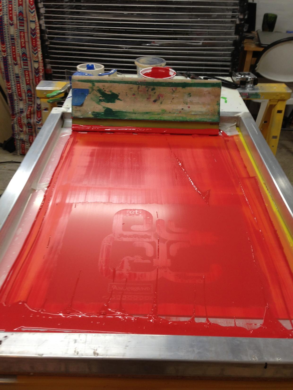 Screen printing process 2