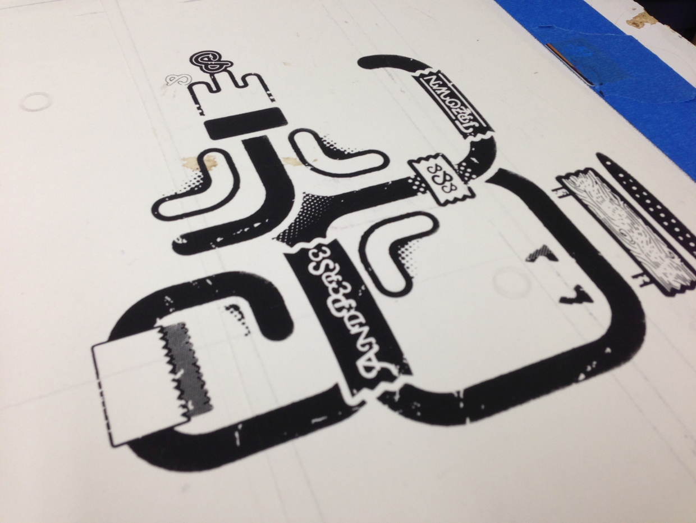 Screen printing process 3